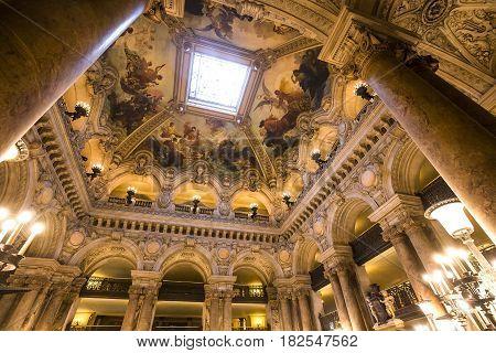 The Palais Garnier, Opera Of Paris, Interiors And Details