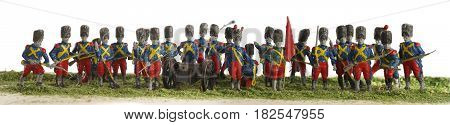 Napoleon soldiers toy plastic panorama group objects