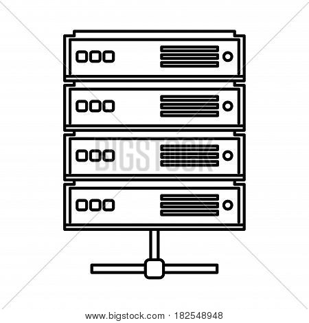 network server isolated icon vector illustration design