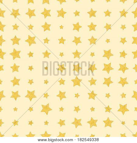 Seamless stars. Golden stars on soft pink background. Vector fabric print. Wallpaper wrapping paper web design template.