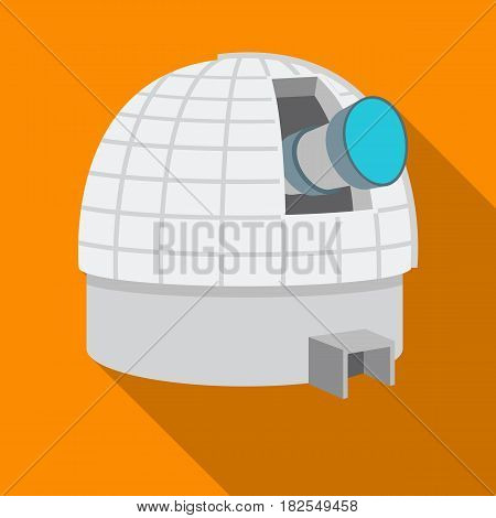 Observatory icon in flate style isolated on white background. Space symbol vector illustration.