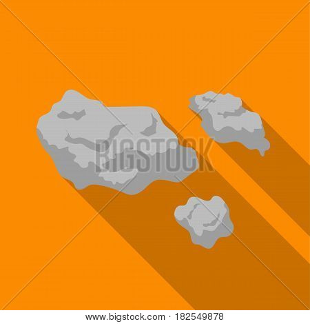 Asteroid icon in flate style isolated on white background. Space symbol vector illustration.