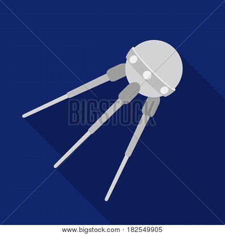 Sputnik One icon in flate style isolated on white background. Space symbol vector illustration.