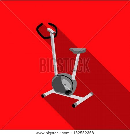 Exercise bike icon flate. Single sport icon from the big fitness, healthy, workout flate.