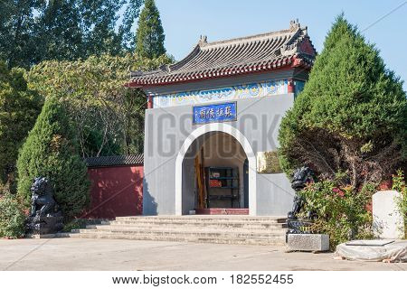 Hebei, China - Oct 13 2015: Zhangfei Temple. A Famous Historic Site In Zhuozhou, Hebei, China.