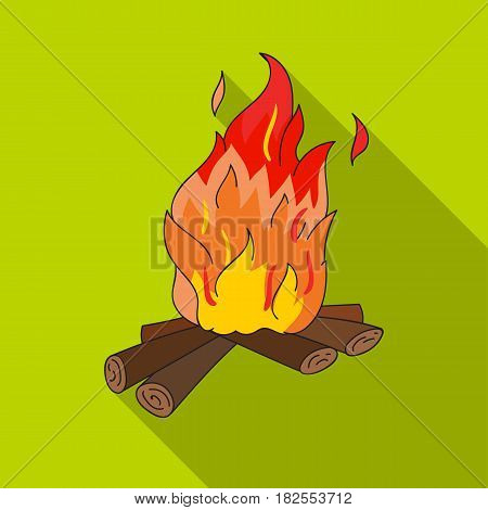 Campfire of stone age icon in flate style isolated on white background. Stone age symbol vector illustration.