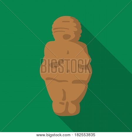 Venus of stone age icon in flate style isolated on white background. Stone age symbol vector illustration.