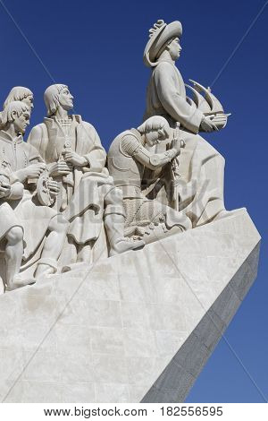 Lisbon, Portugal, April 6, 2017 : Padrao Dos Descobrimentos (monument Of The Discoveries) Is Located