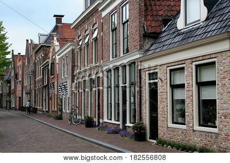 Friesland Franeker july 2016:  an old fasioned street