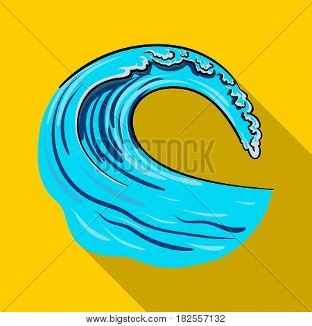 Wave icon in flate design isolated on white background. Surfing symbol stock vector illustration.