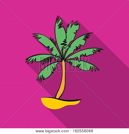 Palm tree icon in flate design isolated on white background. Surfing symbol stock vector illustration.