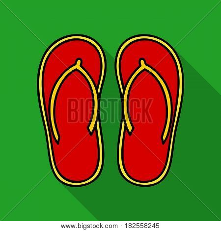 Flip-flops icon in flate design isolated on white background. Surfing symbol stock vector illustration.