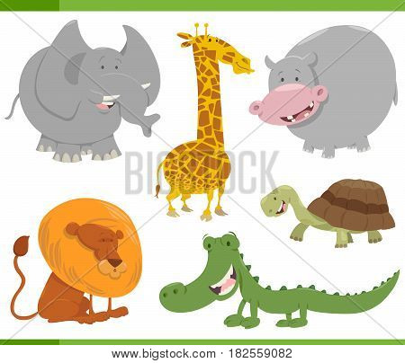 Safari Animal Characters Set