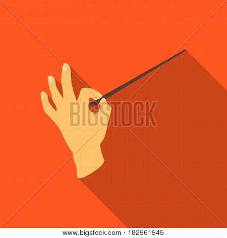 Conductor orchestra icon in flate style isolated on white background. Theater symbol vector illustration