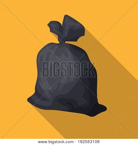 Garbage bag icon in flate style isolated on white background. Trash and garbage symbol vector illustration.