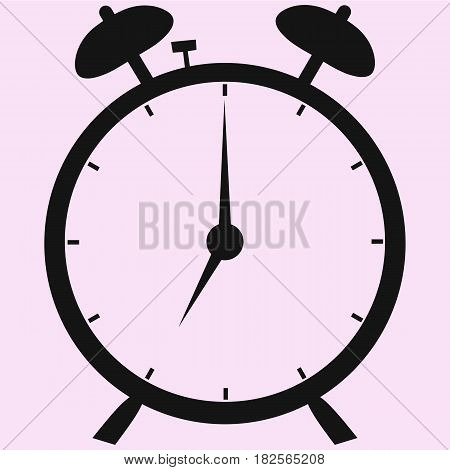 alarm clock vector silhouette isolated on background