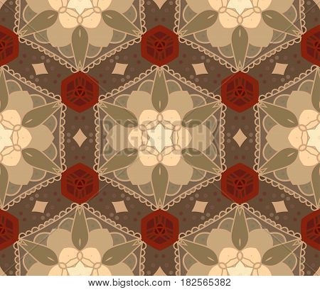 Seamless Abstract Hand Drawn Pattern. Floral Background. Yellow Wallpaper