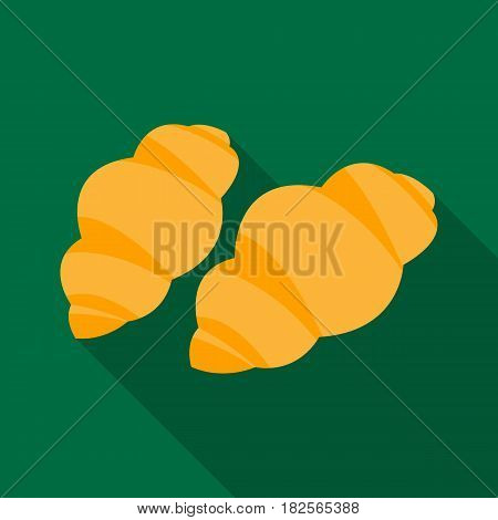 Gnocchi pasta icon in flate style isolated on white background. Types of pasta symbol vector illustration.