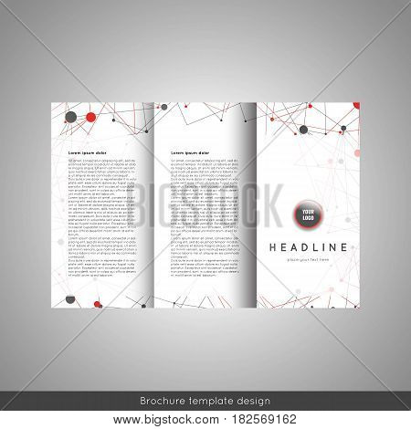 Corporate trifold brochure template design. Stock vector.