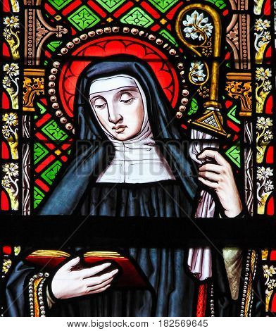 Stained Glass - Female Saint