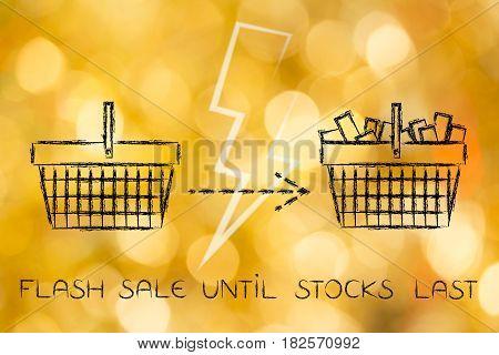 Empty Shopping Cart Goes Full, Flash Sale
