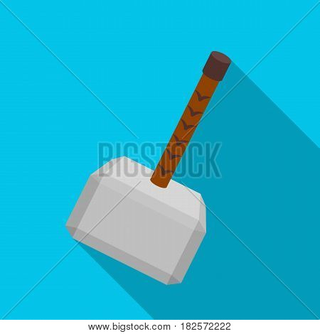Viking battle hammer icon in flate design isolated on white background. Vikings symbol stock vector illustration.