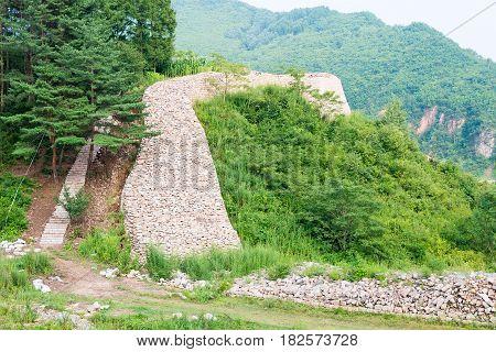 Jilin, China - Jul 27 2015: Wandu Mountain City (unesco World Heritage Site). Was The Second Capital