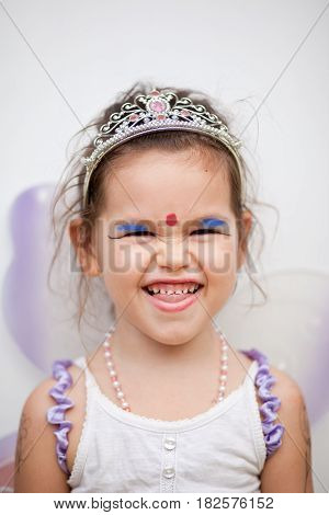 Portrait of beautiful fairy, mix asian kid