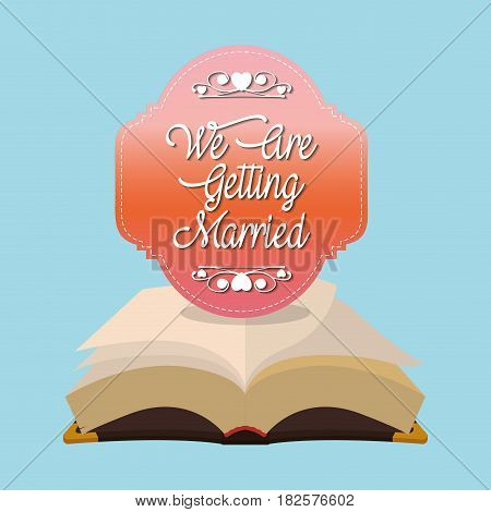 we are greeting married bible card vector illustration eps 10