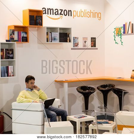 Amazon Publishing Stand At Tempo Di Libri In Milan, Italy
