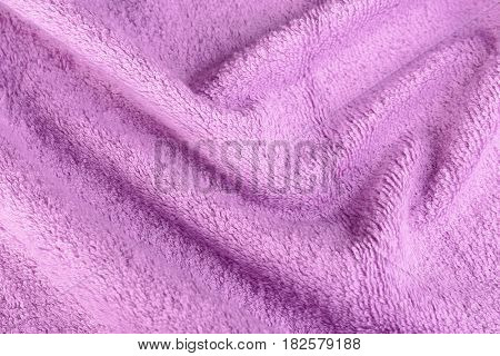 Lilac terry cloth texture, closeup