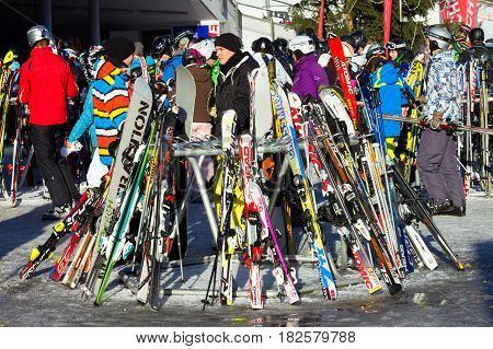 Ski Piste Winter Sport Alps