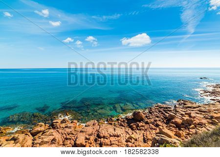 Clouds over Su Sirboni beach in Sardinia
