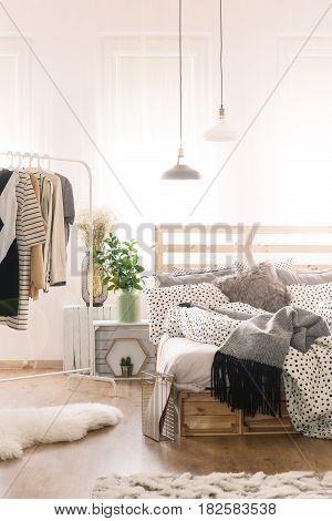 Bed In Modern Bedroom