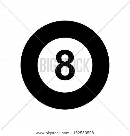 billiard ball eight isolated icon vector illustration design