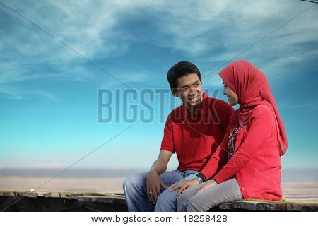asian muslim couple