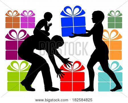 Gift Overload. Parents who over-gift their child with holiday presents