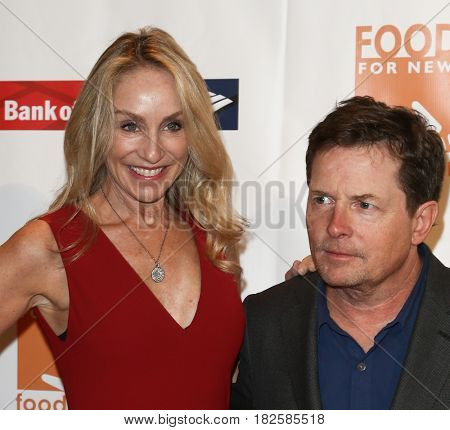 NEW YORK-APR 19: Tracy Pollan (L) and Michael J. Fox attend the Food Bank for New York City's Can-Do Awards Dinner 2017 at Cipriani's on April 19, 2017 in New York City.