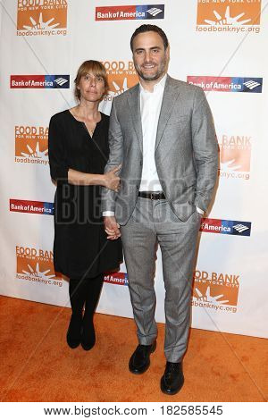 NEW YORK-APR 19: Actors Ilana Levine (L) and Dominic Fumusa attend the Food Bank for New York City's Can-Do Awards Dinner 2017 at Cipriani's on April 19, 2017 in New York City.