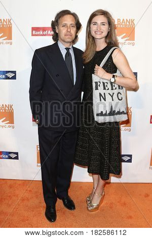NEW YORK-APR 19: David Lauren (L) and Lauren Bush Lauren attend the Food Bank for New York City's Can-Do Awards Dinner 2017 at Cipriani's on April 19, 2017 in New York City.