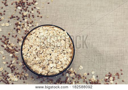 Background, Wallpaper, Oatmeal Scattered In A Plate