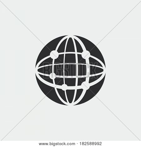 network icon isolated in white background .
