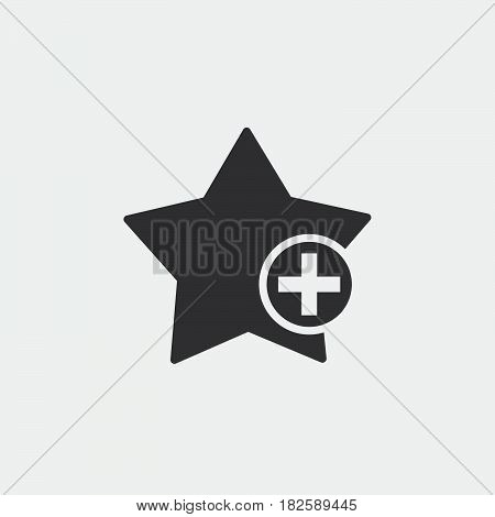 add to favorites icon isolated in white background .