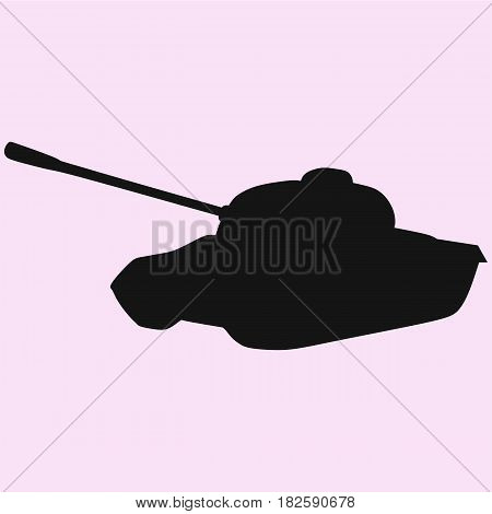Tank isolated vector silhouette isolated on background