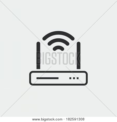 router icon isolated in white background .