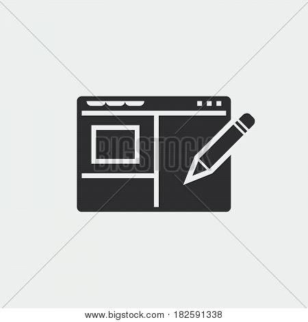 Web design icon isolated on white background .