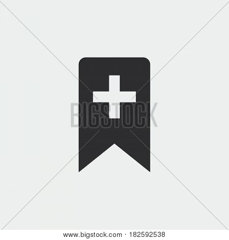 add bookmark icon isolated on white background .