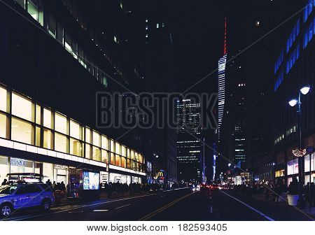 Madison Avenue (manhattan, New York) By Night