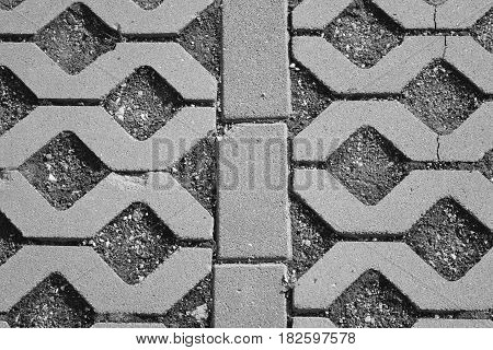 Urban industrial background of paving slabs with an interesting pattern