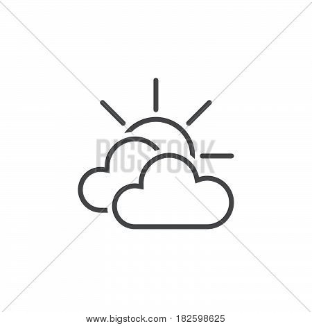 Mostly cloudy weather icon isolated on white background .